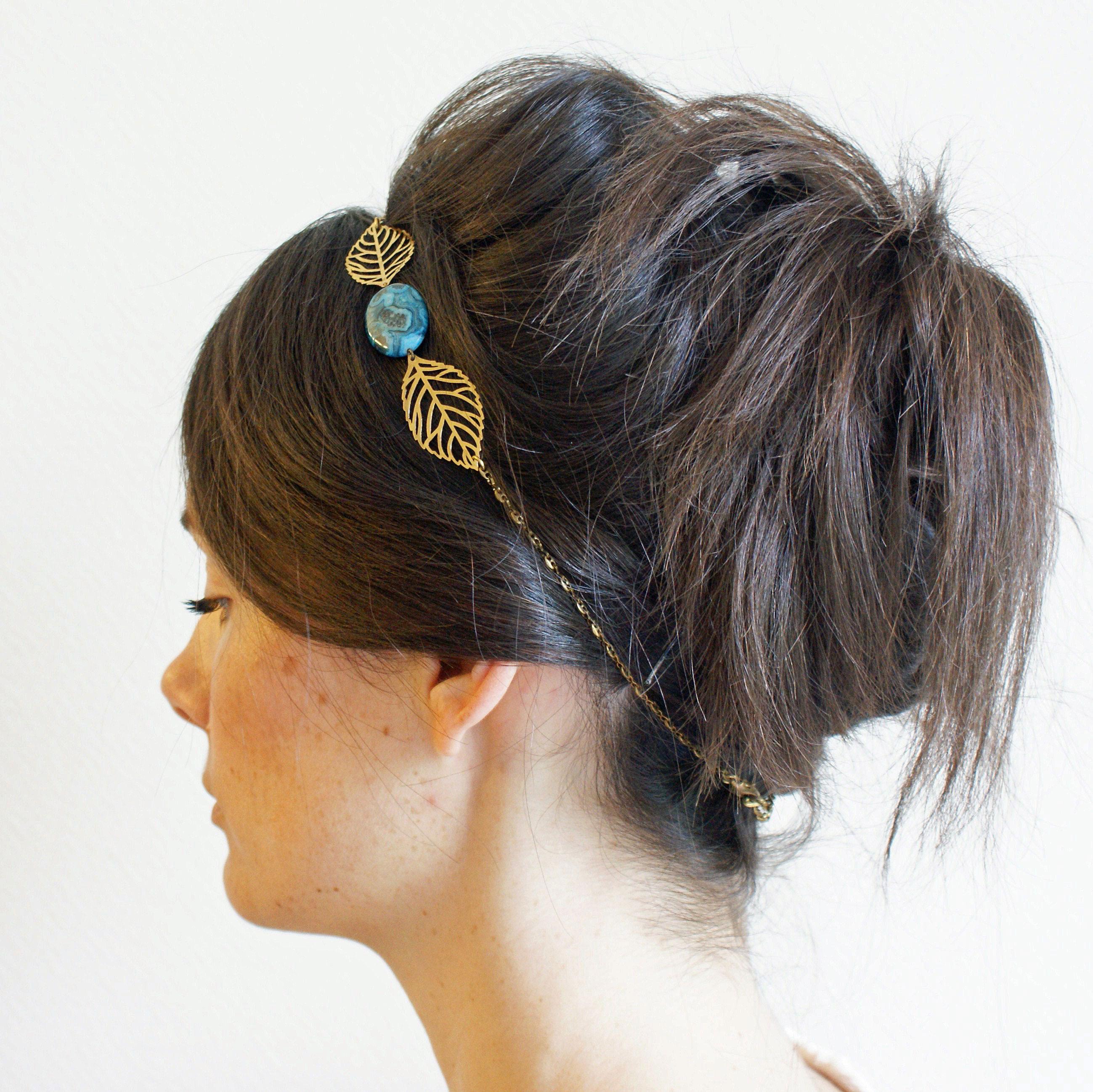 BODU HITI headband turquoise porté