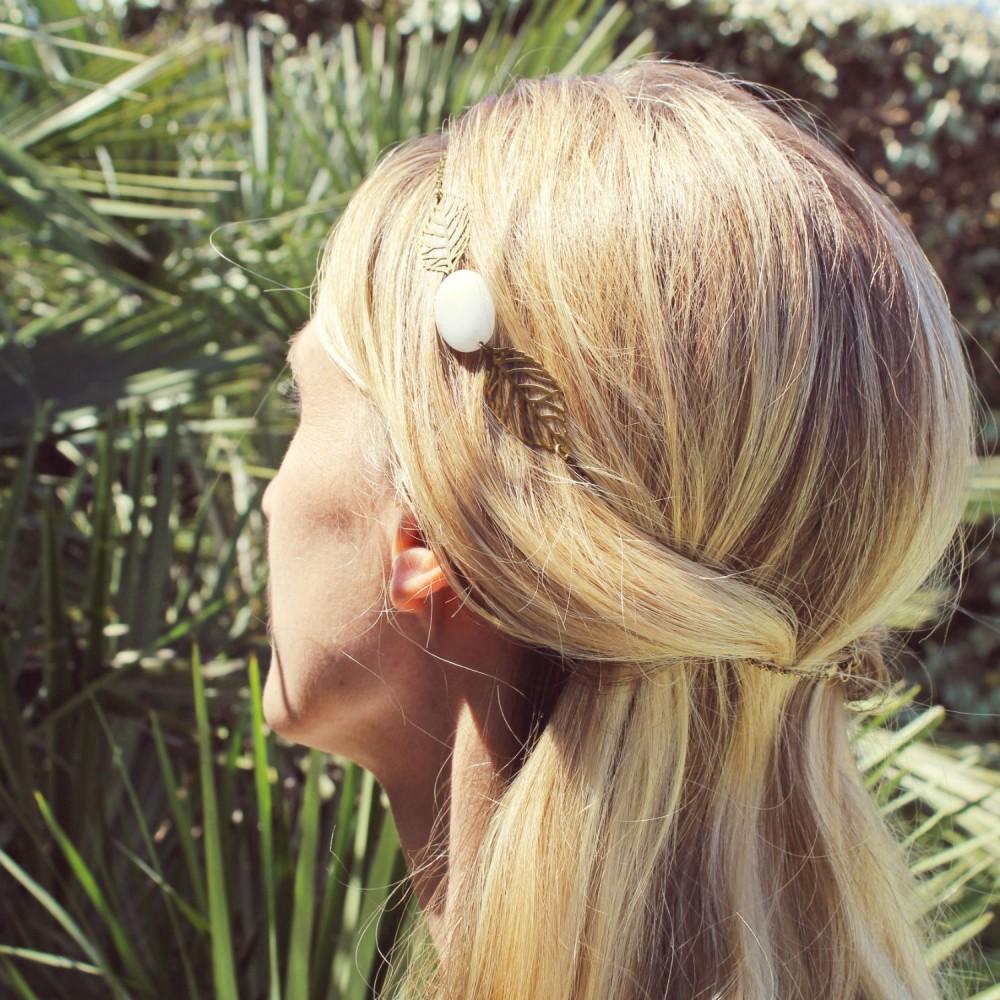 DAHLIA headband mariage Pemberley porté