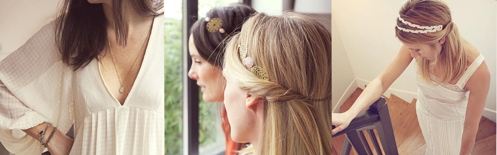Triptyque pendentif et headbands Pemberley 2014