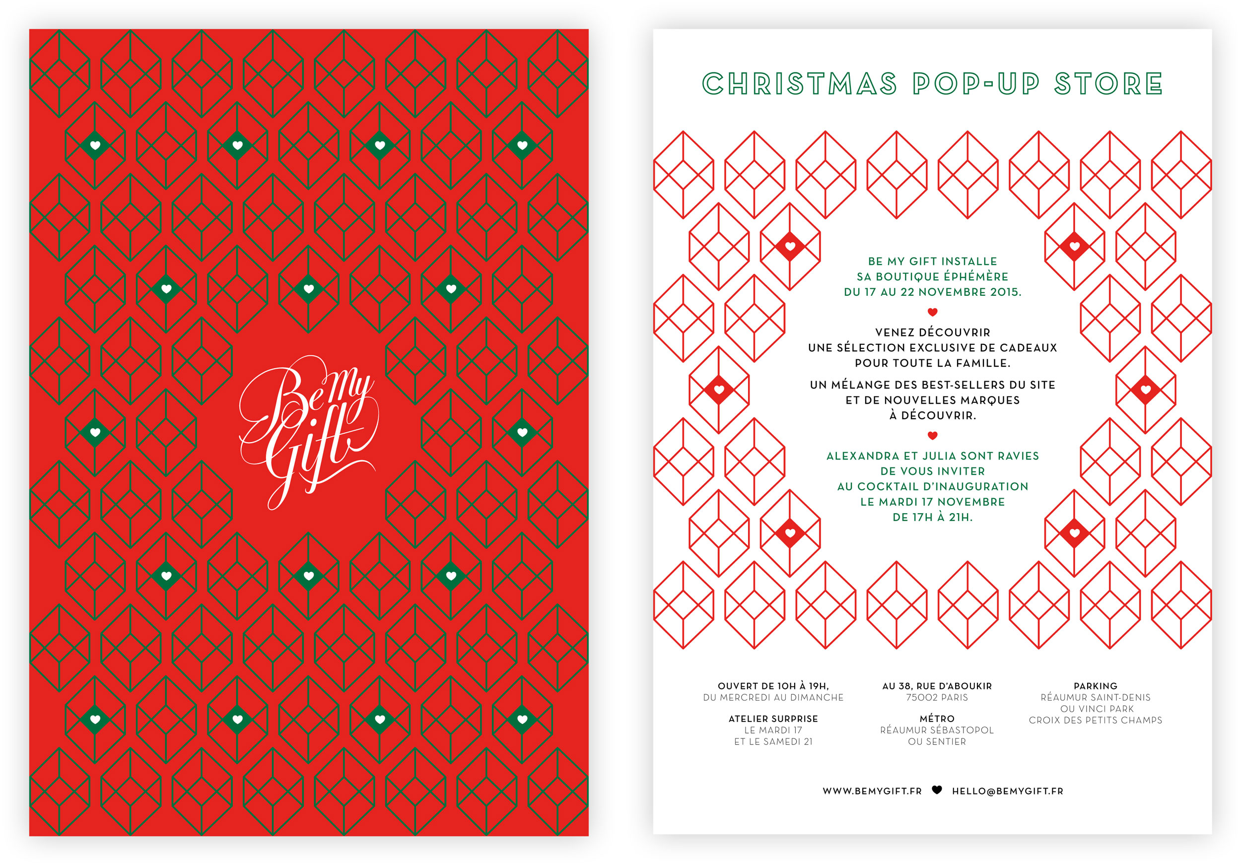 Invitation popup store Be My Gift