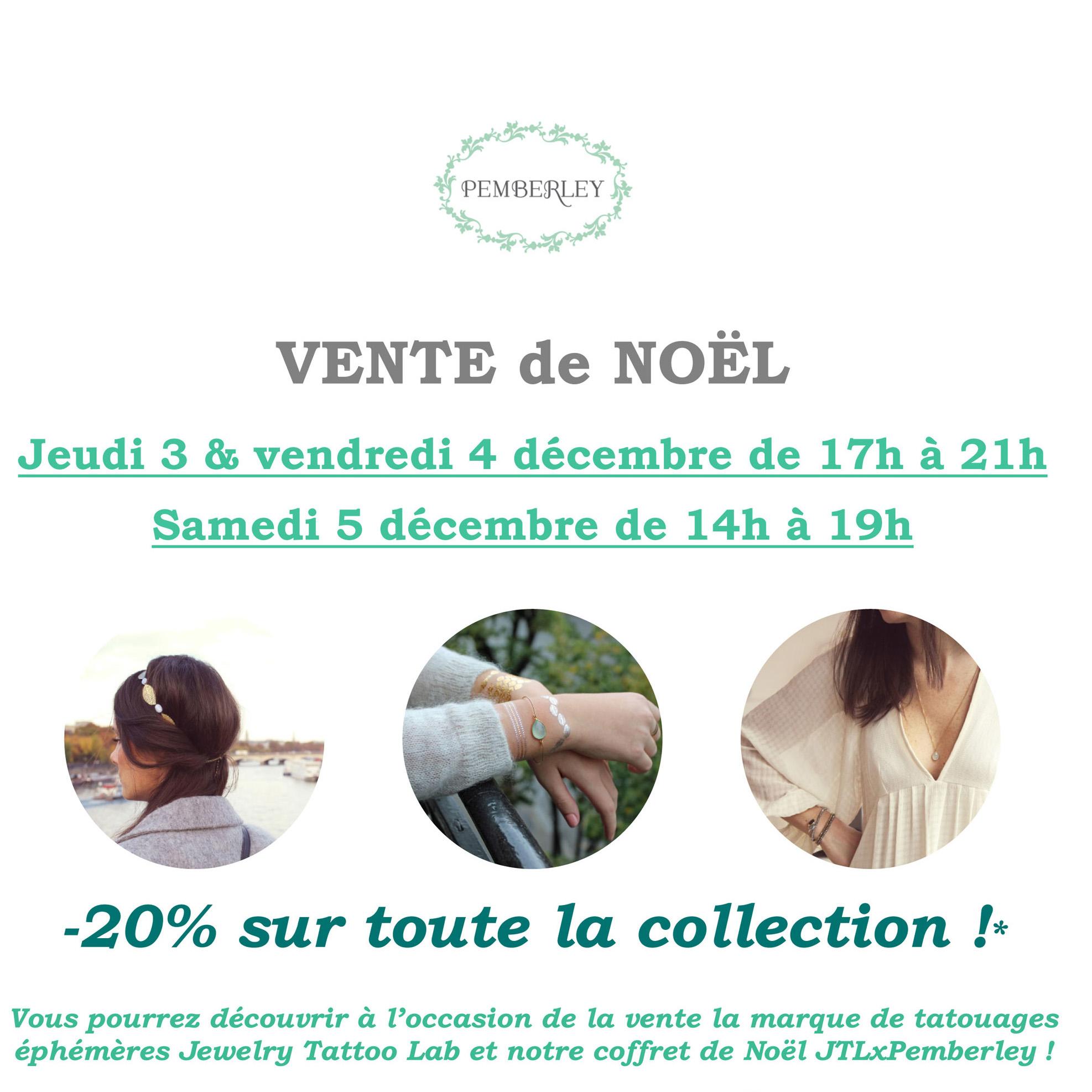 Vente Noël 2015 Pemberley bijoux